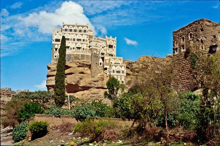 yemen: Palace Wadi Dhar Yemen Stock Photo