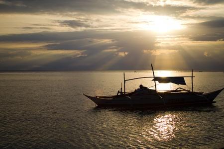 Sunset scnene at Sibale Romblon, Philippines photo