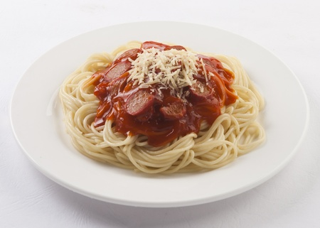 Spaghetti prepared in a plate Stock Photo - 9014516