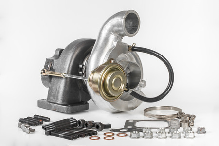 compressor: Turbocharger for cars isolated on white background