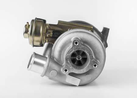 Turbocharger for cars isolated on white background  photo