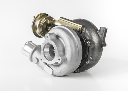 Turbocharger for cars isolated on white background