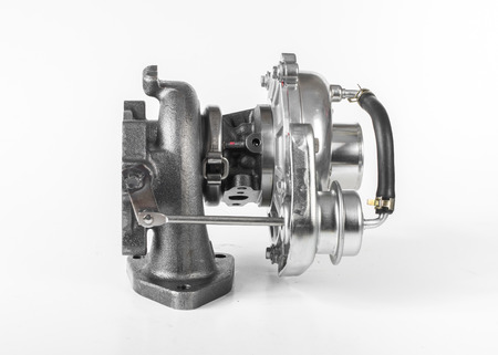 forced: Turbocharger for cars isolated on white background