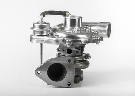 turbocharger: Turbocharger for cars isolated on white background