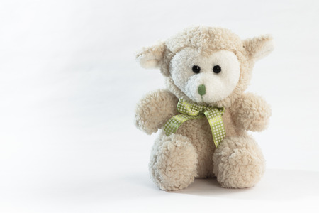 cuddly: Cuddly stuffed toy isolated on white background.