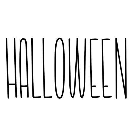 Carattere alto e divertente di Halloween. Lettere carine allungate. Alfabeto allungato con lettere sottili. Elegante Halloween in caratteri tipografici stretti. Carattere personalizzato per etichetta, copertina del libro.