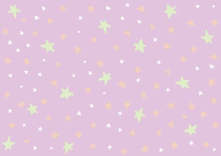 Stars vector background in Halloween colors for children kids. Suitable for textile, print, decoration, clothes. Halloween and autumn decor. Paper design style. Children and kids decor. Ilustração
