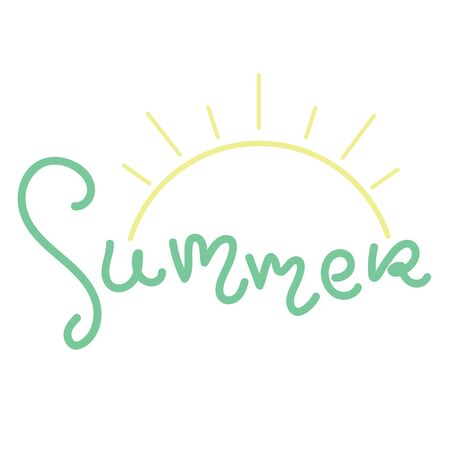 Summer fun font text in cute letters. Inspirational phrase for decoration template.
