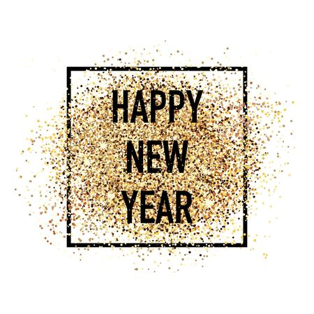 Décoration de carte postale de confettis de bonne année. Pour les salutations saisonnières d'hiver imprimées et Web. Carte de célébration de belles vacances de style rétro. Vecteurs
