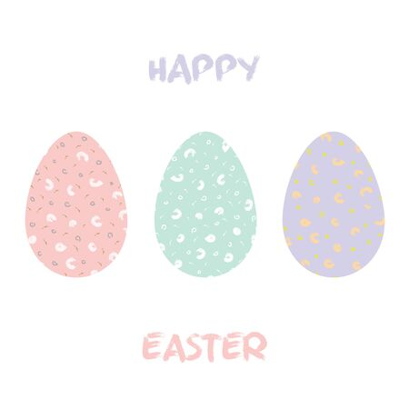 Easter eggs for holiday celebration card template