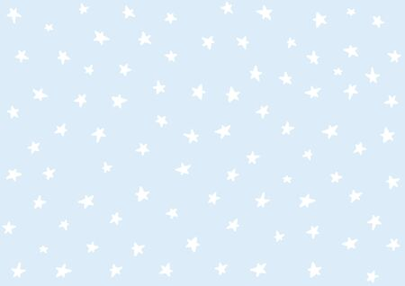 Doodle stars art. Vector stars isolated background. Pattern for children, babies, toddlers. Night sky hand drawn. Backdrop for baby shower decoration. Wallpaper vintage design, Retro style confetti.