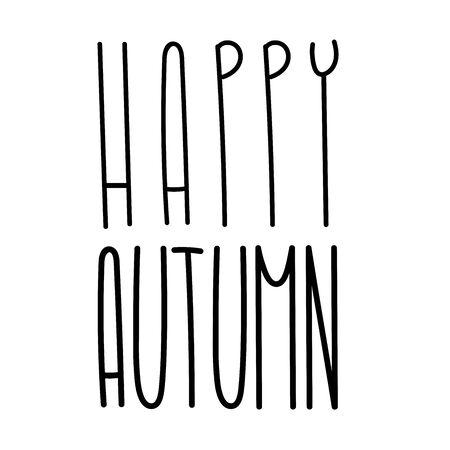 Autumn tall fun font lettering. Elongated cute letters. Elongated alphabet with thin letters. Ilustração