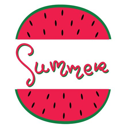 Summer fun font text in cute letters. Inspirational phrase for decoration template. Stockfoto - 131786786