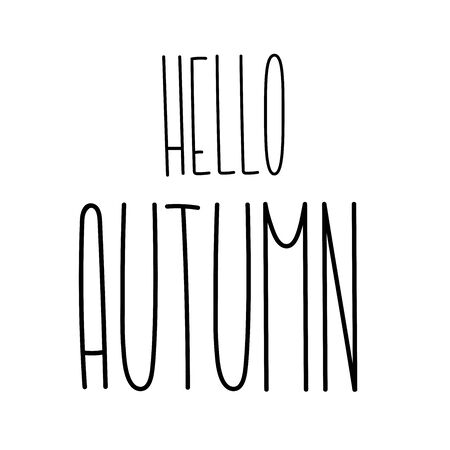 Autumn tall fun font lettering. Elongated cute letters. Elongated alphabet with thin letters. Elegant autumn in narrow typeface.