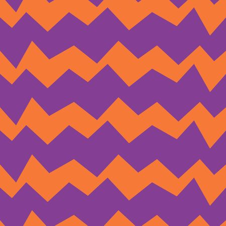 Seamless zig zag vector pattern. Suitable for textile, print, decoration, clothes. Halloween and autumn decor. Paper design style. Children and kids decor. Spooky wallpaper. Ilustração