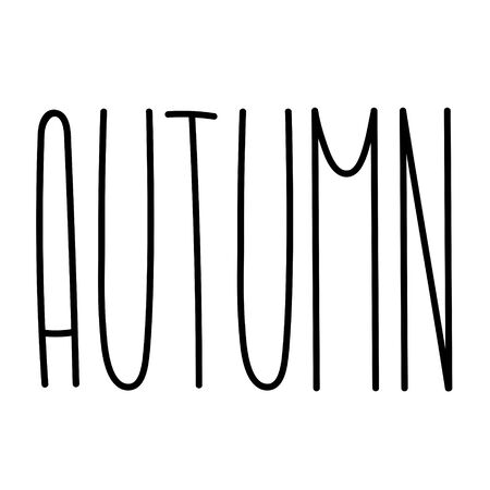 Autumn tall fun font with cute letters