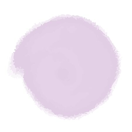 Vector watercolor imitation pastel color abstract stain. Blot background in white. Color burst template. Textured art brush stroke.