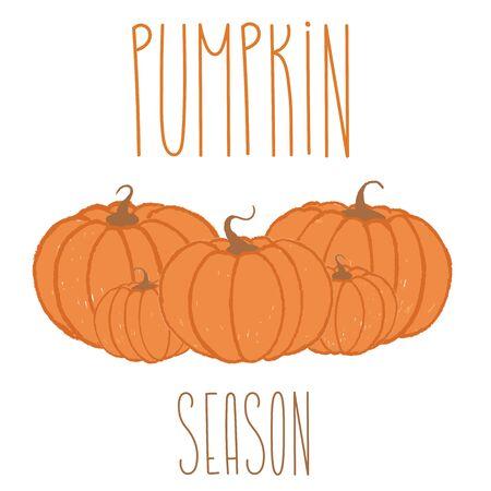 Suitable for textile, print, decoration, clothes. Magic elements for halloween autumn magic decoration. Orange cute art illustration.