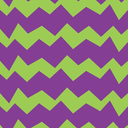 Seamless zig zag vector pattern. Suitable for textile, print, decoration, clothes. Halloween and autumn decor. Paper design style. Children and kids decor. Spooky wallpaper. Stock Illustratie