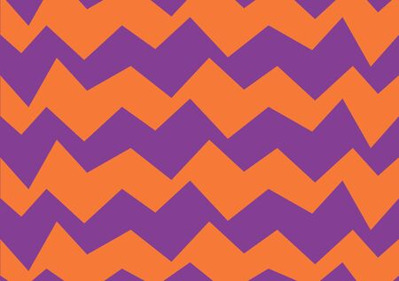 Zigzag vector pattern. Suitable for textile, print, decoration, clothes. Halloween and autumn decor. Paper design style. Children and kids decor. Spooky wallpaper.