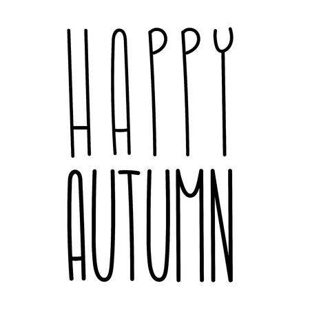 Autumn tall fun font lettering. Elongated cute letters. Elongated alphabet with thin letters. Elegant autumn in narrow typeface. Customized font for label, book cover. Çizim