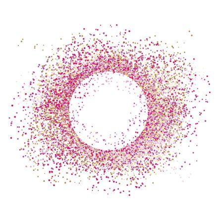Vector confetti splash dots isolated burst colors 写真素材 - 137937338