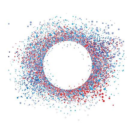 Vector confetti splash dots isolated burst colors 写真素材 - 137937341