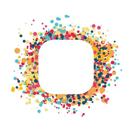 Vector confetti splash dots isolated burst colors 写真素材 - 137937343