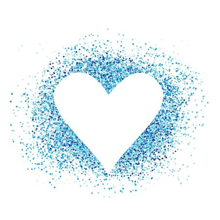 Confetti love heart template design for valentine day. Romantic holiday decoration. Art for home, print, web, banners, posters. Valentines day and Wedding anniversary illustration. 写真素材 - 141737344
