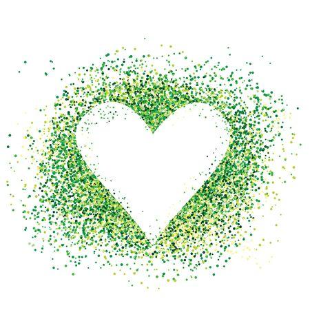 Confetti love heart template design for valentine day