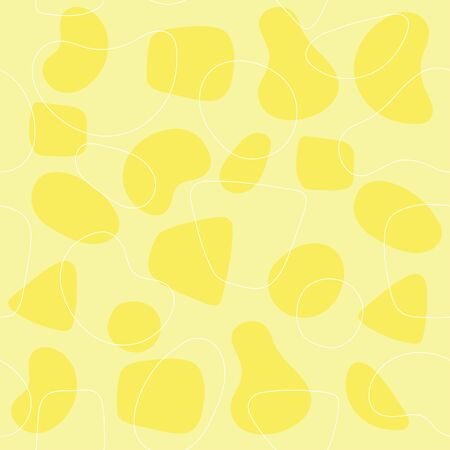 Abstract modern retro seamless background spots shapes  イラスト・ベクター素材