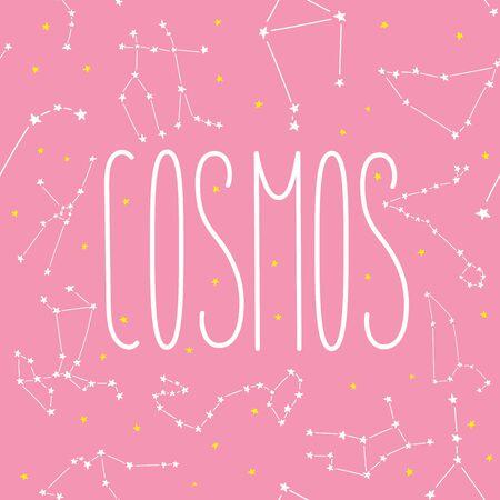 Cosmos constellation stars horoscope decoration pattern seamless