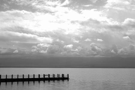 soledad: la soledad y la depresión Foto de archivo
