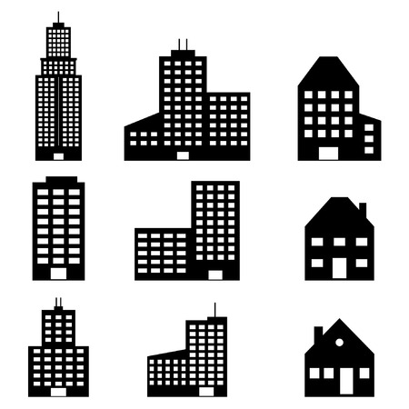 headquarter: Building Icons Set