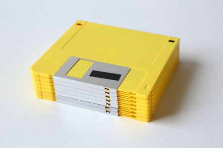 Stack of Old Computer Floppy Disks