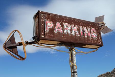 artsy: Vintage, Rustic, and Artsy Parking Sign