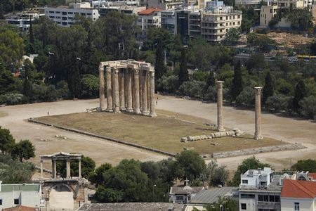 megalith: Temple of Olympian Zeus Ruins, Athens, Greece
