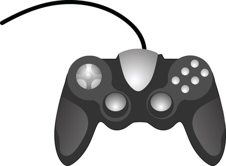 Gamepad joystick vector illustration isolated on white background Vectores