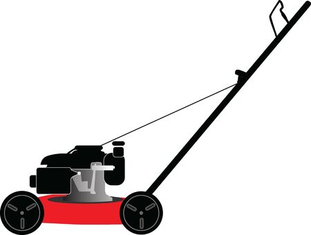 lawn mower on a white background vector illustration Stock Illustratie