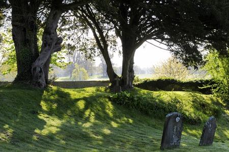 somerset: Marston Church Graveyard Somerset