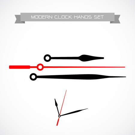 round the clock: Clock hands vector. Isolated on a white background.