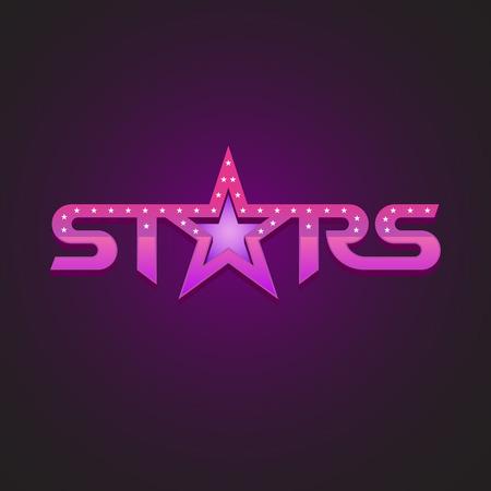 estrellas moradas: Estrellas logotype concepto de estilo de moda.