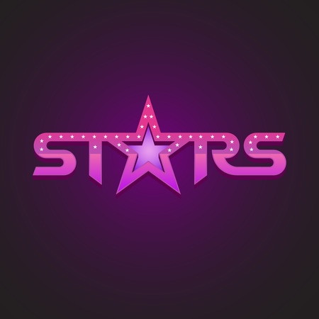 purple stars: Stars logotype fashion style concept. Illustration
