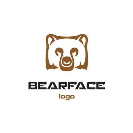 animal head: Bear logo template. Animal head symbol.