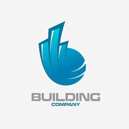 real estate concept: Real estate buildings logo template