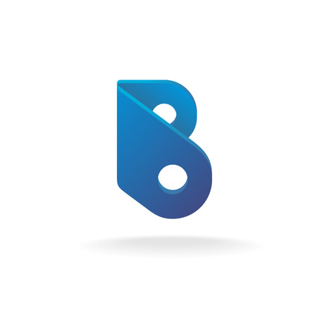 pieces of furniture: Letter B logo template. Construction building element style.