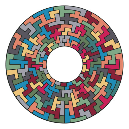 circular: Tiled color geometric ornament