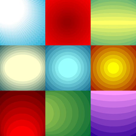 yellow banded: Color blend backgrounds set