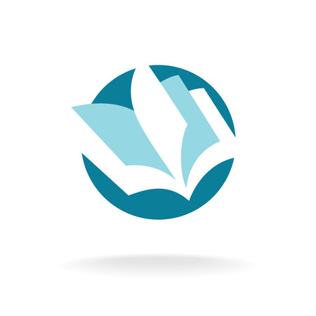 aprendizaje: Páginas del libro abierto logotipo de la plantilla