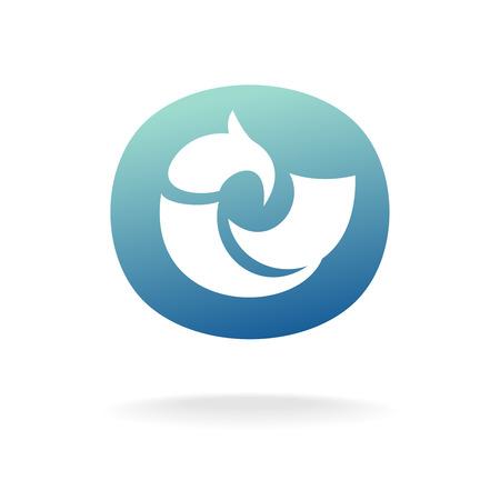 bird logo: Vector bird logo template. Sitting or floating.